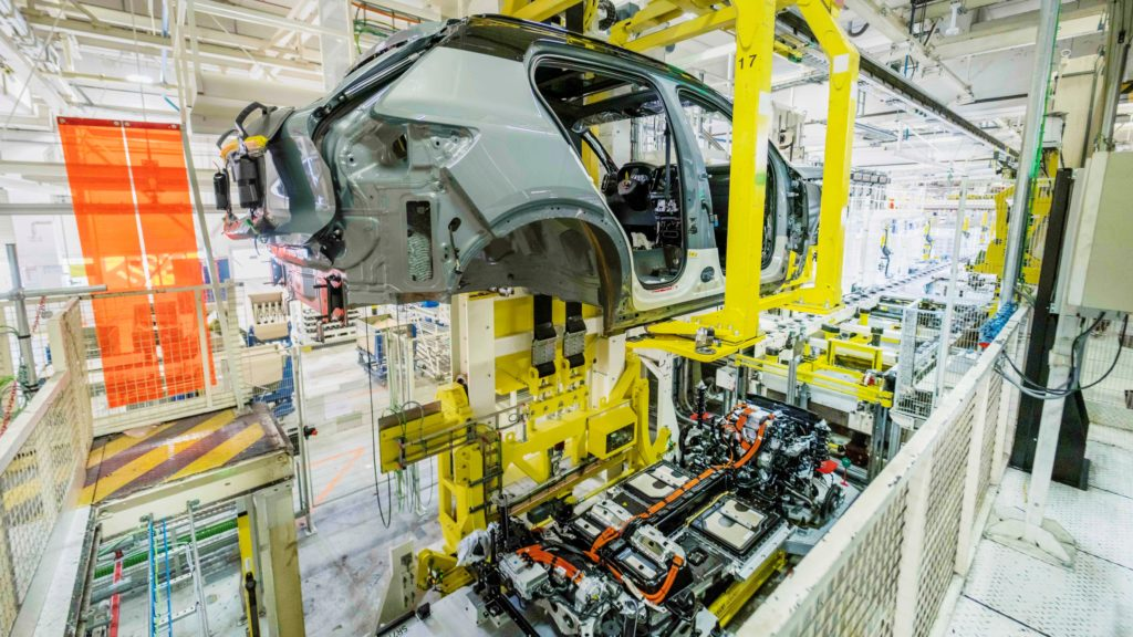 Volvo XC40 Recharge,  production in Ghent, Belgium